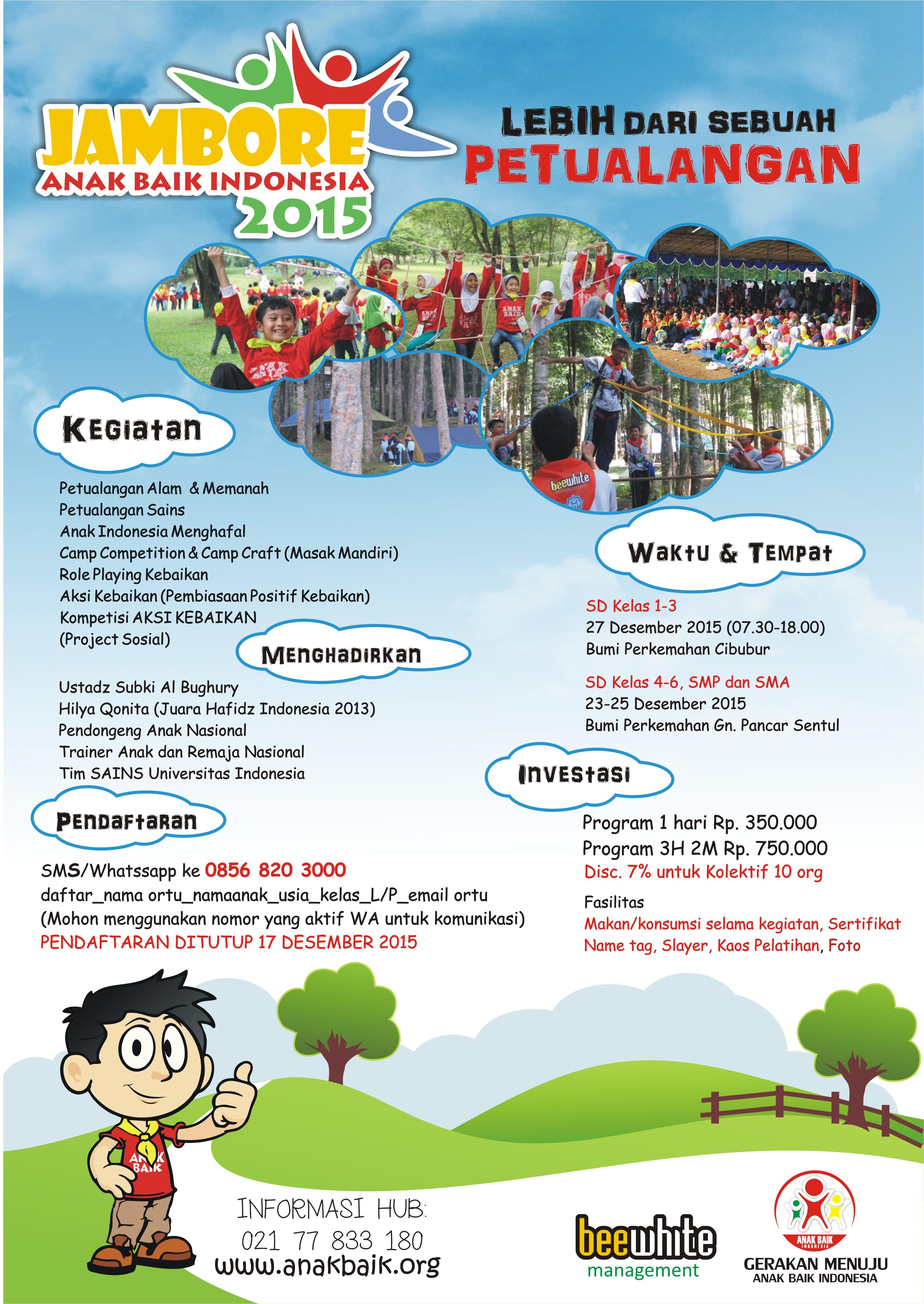 Jambore Anak Baik 2015